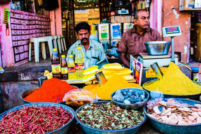 Spice Sellers, Jodhpur, India