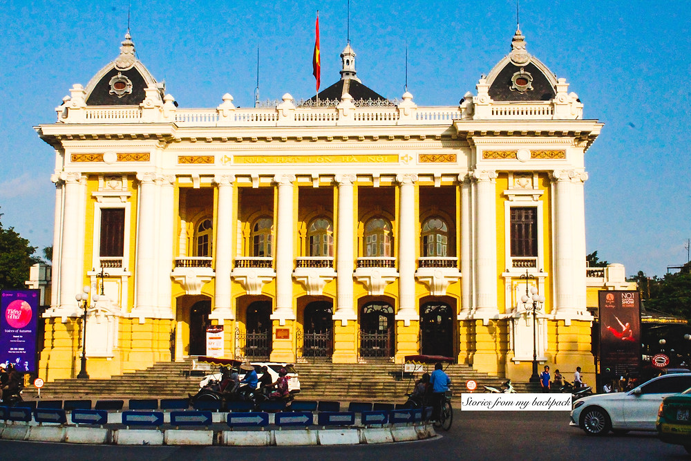 Hanoi Opera House, places to visit in Hanoi, things to do in Hanoi, French architecture in Hanoi, best places to visit in Hanoi, French quarter in Hanoi