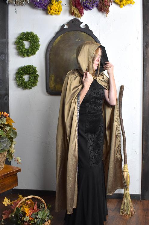 Tan Raw Silk Cloak