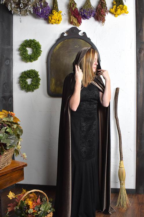Brown Velvet Cloak