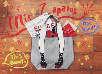 Unique design tote bag from Mis Zapatos Japan.