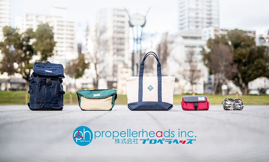 Bags, bacpacks and tote bags by Propellerheads Osaka Japan.