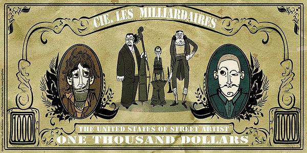 @ Cie Les Milliardaires -  dessin Loïc Holzemer