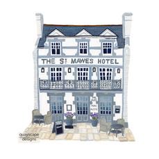 St Mawes – Hotel – gouache artwork
