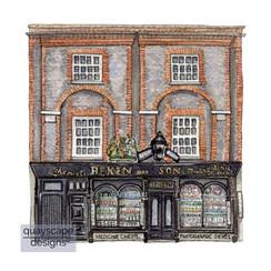 Cowes – Beken's Shop – watercolour artwork