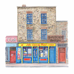 Dublin - Travel Agents - watercolour artwork - private commission