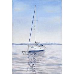 Bavaria 39 cruiser yacht illustration
