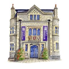 Winchester - Museum - pen & watercolour artwork