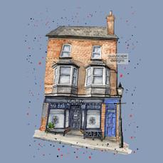Dartmouth – Yarn – blue – quirky pen & watercolour artwork
