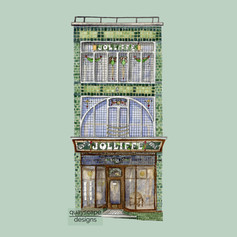 Cowes – Jolliffe's Building – green – watercolour artwork