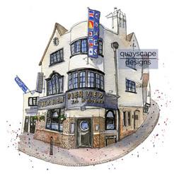 Pub & restaurant portraits, commercial illustration