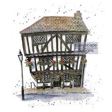 Dartmouth – The Cherub Inn – quirky pen & watercolour artwork