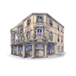 Cowes – Redferns – ink & watercolour artwork