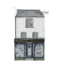 Cowes – Domestic Bazaar Co – marker pen artwork