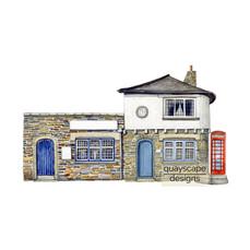 St Mawes – 3 The Quay – gouache artwork