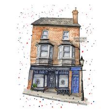 Dartmouth – Yarn – quirky pen & watercolour artwork