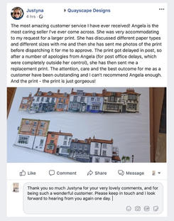 """""""The most amazing customer service I have ever received! Angela is the most caring seller I've ever come across. She was very accommodating to my request for a larger print. She has discussed different paper types and different sizes with me and then she has sent me photos of the print before dispatching it for me to approve. The print got delayed in post, so after a number of apologies from Angela (for post office delays, which were completely outside her control), she has then sent me a replacement print. The attention, care and the best outcome for me as a customer have been outstanding and I can't recommend Angela enough. And the print - the print is just gorgeous!"""" (2-3-21 JS)"""