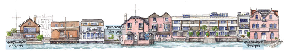 Cowes Waterfront (section 4) - watercolour