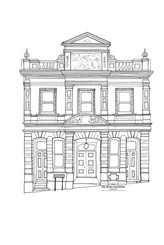 Cowes – North House – ink artwork