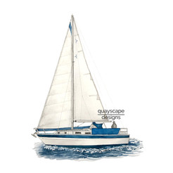 Westerly 33 watercolour illustration