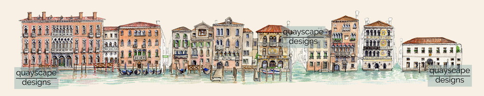 Grand Canal Venice, south bank