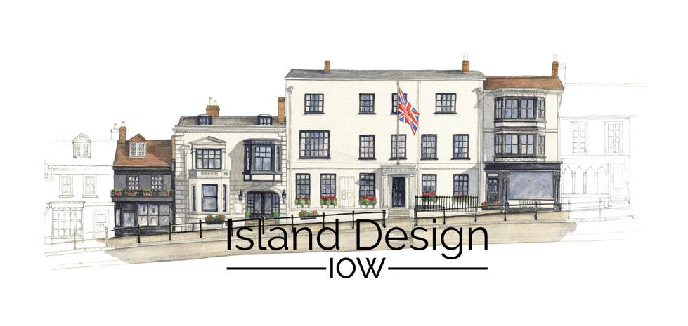 Stanwell House Hotel, Lymington High Street - watercolour