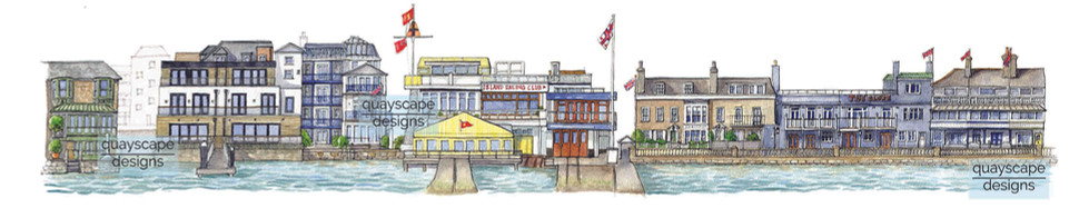 Cowes Waterfront (section 5) - watercolour