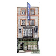 Cowes – Benzie's Shop – watercolour artwork