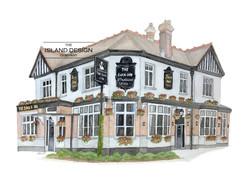 Surrey – The Swan – watercolour artwork