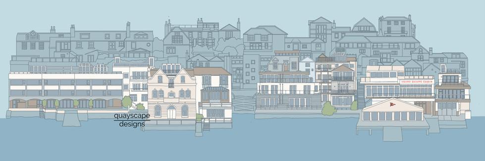 Cowes Waterfront - digital colour