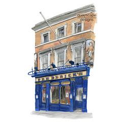 Islington – Fredericks – watercolour artwork