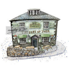 Cowes – The Duke of York – quirky pen & watercolour artwork