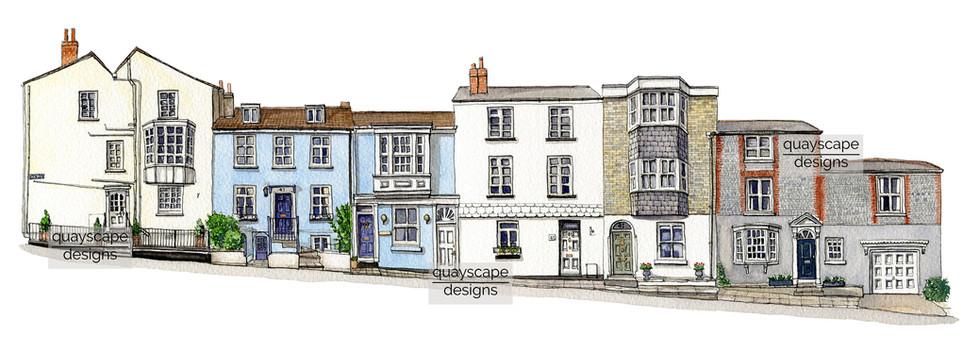 Sun Hill, Cowes - watercolour
