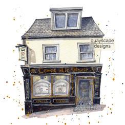 Cowes – Cowes Ale House – quirky pen & watercolour artwork