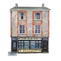 Cowes – Brawns Shop – watercolour artwork