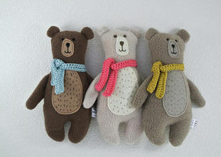 """""""I bought 2 of these gorgeous bears for my twins. Angela was very helpful with colour choice and sent them quickly as I wanted them for when they were born as special first toys. They were beautifully wrapped and are gorgeous - all the nurses and midwives in hospital have commented on them! They are lovely companions for them during their stay in hospital.""""  (16-04-18 HM Etsy)"""