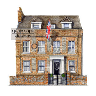 """""""I wanted you to know how delighted I am with the commission.  It is a really beautiful memento of the house I have lived in for nearly 15 years."""" (08-03-21 KC)"""