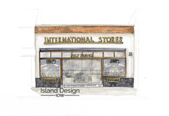 Cowes – Intenational Stores – watercolour artwork
