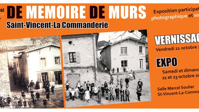 DE MEMOIRE DE MURS - Exposition photographique & sonore du 17 au 19 février 2017 St Vincent La C