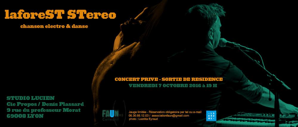 LAFOREST STEREO - CONCERT PRIVé LYON -7/10 19.00H