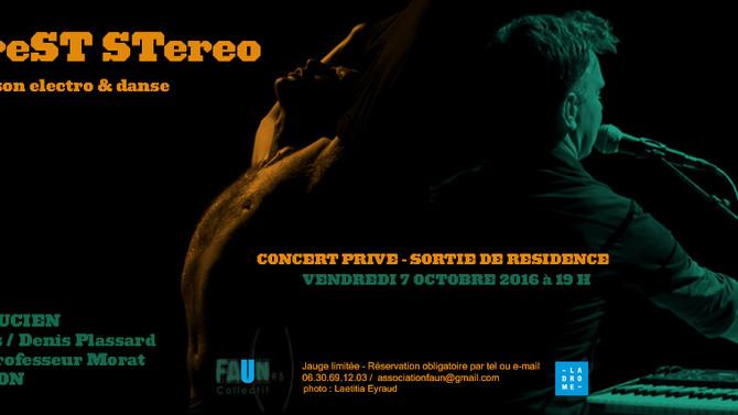 LAFOREST STEREO - CONCERT PRIVé - LYON  7/10/16 - 19.00