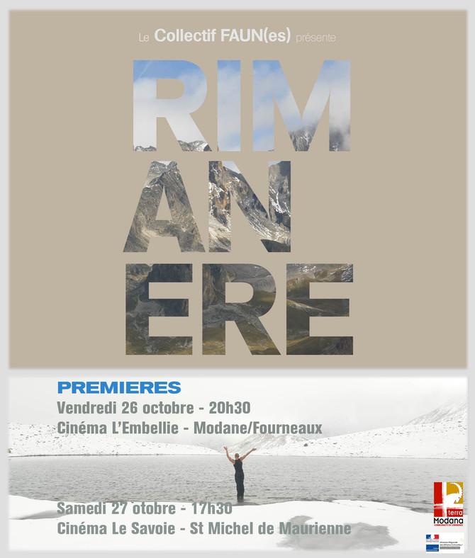RIMANERE - le Film PREMIERES en Savoie