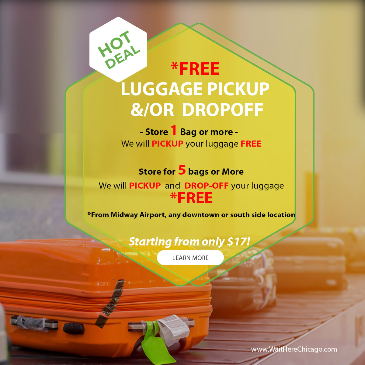 Free Luggage Pickup
