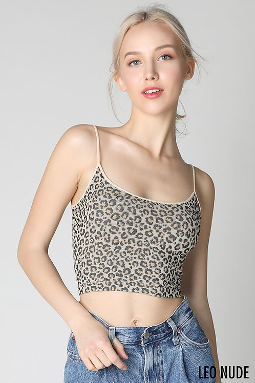 Leopard Low Back Crop Top