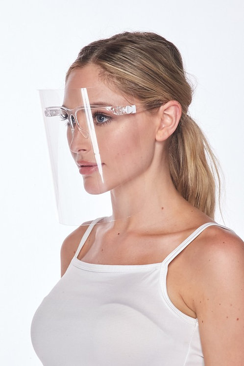 Clear Face Shield - White Silicone (Qty = 100)