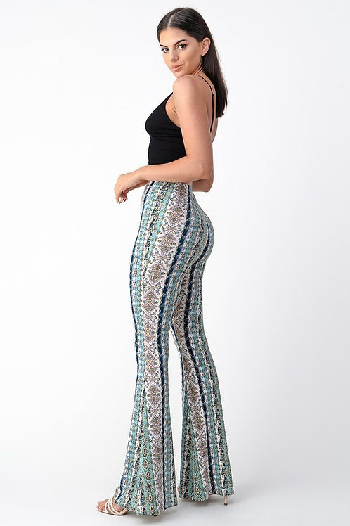 Bellbottoms - Minty Floral