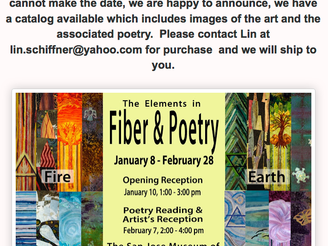 Fiber and Poetry at the San Jose Quilt Museum