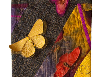 So very pleased my piece Pulchra Papilio (Beautiful Butterflies) will be exhibited at the Texas Quil