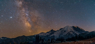 The Milky Way from Sunrise Park at Mt Rainier