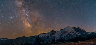 The Milky Way from Sunrise Park at Mt Rainier